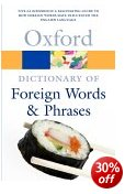 Specialist Dictionaries - Dictionary of Foreign Words and Phrases