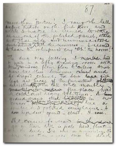 Joseph Conrad - manuscript page