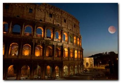 Colosseum in moonlight