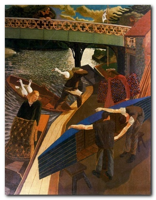 Stanley Spencer - Swan Upping at Cookham